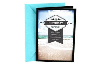 (Beach) - Hallmark Birthday Greeting Card for Him