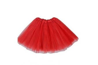 """""""A Liittle Tree"""" New LADIES Girls Women Tutu Skirts Dress Up Fancy Dress Party Hen Party (RED)"""