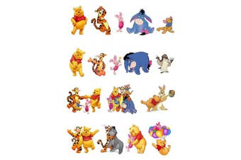 17 Stand Up Winnie The Pooh and Friends Premium Edible Wafer Paper Cake Toppers