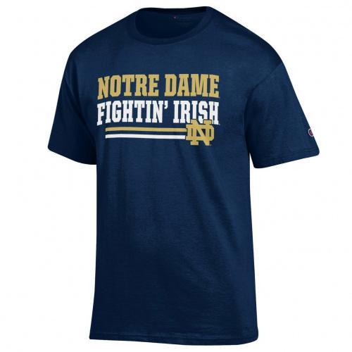Champion Notre Dame Fighting Irish Adult Block T-Shirt Navy