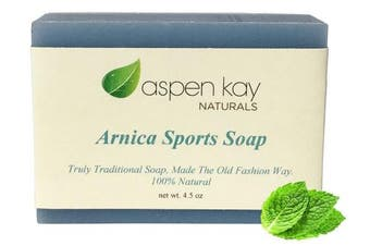 Arnica Soap - 100% Natural and Organic Sports Soap for Athletes. Great for after Cross Fit, Yoga, Exercising or Working Out. Infused with Arnica and Pure Essential Oils. 4.5 Bar.