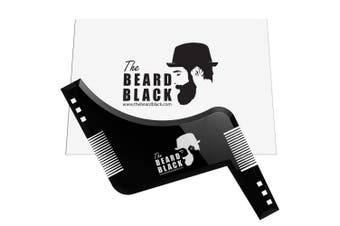 Beard shaping & styling tool with inbuilt comb