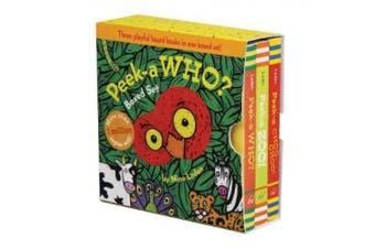 Peek-a Who? Boxed Set [Board book]
