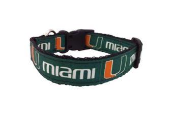 (Medium) - NCAA Miami Hurricanes Dog Collar