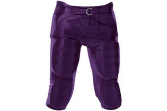(X-Large, Purple) - Alleson Youth Solo Series Integrated Football Pant