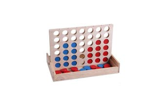 AMGlobal Connect Four, Connect 4 Game, Four in a Row. 4 in a Row Wooden Game, Classic Family Toy, Board Game For Kids and Family For Fun