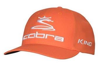 (Large/X-Large, Vibrant Orange) - Cobra 2017 Tour Delta Golf Hat