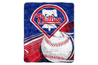 (Philadelphia Phillies) - Officially Licenced MLB Big Stick Sherpa Throw Blanket, 130cm x 150cm