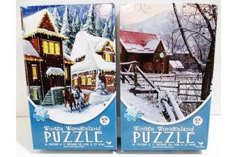 2 Cardinal 500 Piece Jigsaw Puzzles - 2 Different Pictures of Winter Wonderland