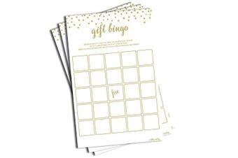 Gift Bingo - Game - Gold Confetti (50-sheets)