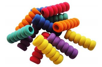 12 Pcs. Pencil Grips, Soft Cushioned Foam, Assorted Colours