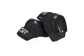 (Medium, Black) - 187 Killer Pads Pro Derby Knee Pads - Black / Black