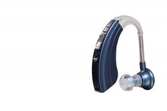 "Digital Hearing Amplifier by Britzgo BHA-220. 500hr Battery Life, Modern Blue, Doctor and Audiologist designed "" FDA Approved """