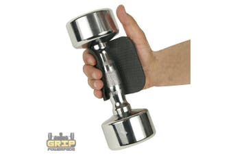 Rubber Lifting Grips ★Gym Doesn't Allow Chalk★ Try GRIP POWER PADS® Alternative to Lifting Chalk & Gym Leather Gloves. Best & Inexpensive way to Safe Your Hands Secure Your Grip.
