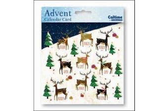 Mini Advent Calendar Card (WDM4386) Reindeer - Santa's Reindeer by Caltime