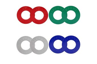(Color Coded Plates) - 44SPORT Olympic Fractional Plates -Pair of 1/4, 1/2, 3/4, 0.5kg Weights (8 Plates. Total Weight: 0.5kg)