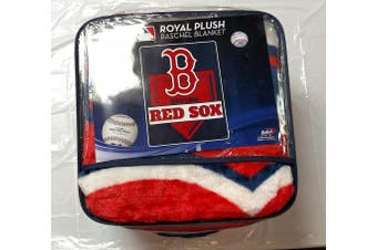 (Boston Red Sox, One Size, Multicolor) - The Northwest Company MLB Mens Royal Plush Raschel Throw