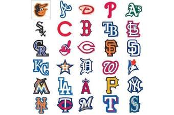 MLB Major League Baseball Team Logo Stickers Set of 30 Teams 10cm X 7.6cm Size
