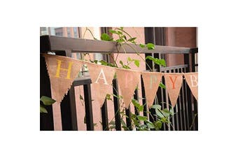 Tinksky Birthday Banner HAPPY BIRTHDAY Hessian Bunting Banner Birthday Party Decoration in Multicolor