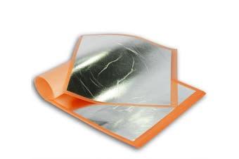 Imitation Silver Aluminium Leaf 25 sheets 14x14cm Booklet (Transfer)