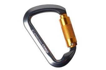 30KN Rock Climbing Carabiner,2win2buy D-shaped Auto Locking Carabiner Twist Lock Hot-forged Magnalium Climber Hiking/Travel/Mountaineer Karabiner Outdoor Sport Tools