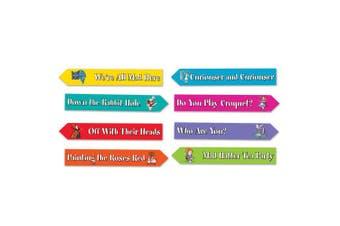 (streat signs) - Beistle 54949 12 Piece Alice In Wonderland Street Sign Cutouts, 9.5cm x 60cm , Multicolor