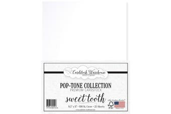 (Sweet Tooth) - Sweet Tooth White Cardstock Paper - 22cm x 28cm 45kg. Heavyweight Cover - 25 Sheets from Cardstock Warehouse