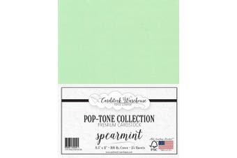 (Spearmint) - Spearmint Green Cardstock Paper - 22cm x 28cm 45kg. Heavyweight Cover -25 Sheets from Cardstock Warehouse