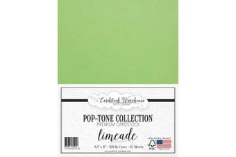 (Limeade) - Limeade Green Cardstock Paper - 22cm x 28cm 45kg. Heavyweight Cover -25 Sheets from Cardstock Warehouse