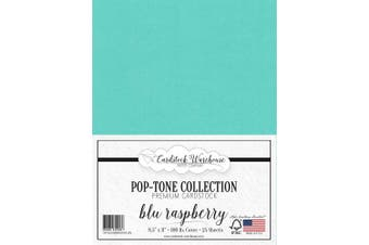 (Blu Raspberry) - BLU Raspberry/Teal Blue Cardstock Paper - 22cm x 28cm 45kg. Heavyweight Cover -25 Sheets from Cardstock Warehouse