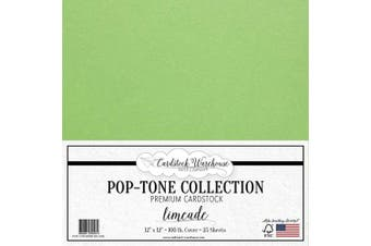 (Limeade) - Limeade Green Cardstock Paper - 30cm x 30cm 45kg. Heavyweight Cover - 25 Sheets from Cardstock Warehouse