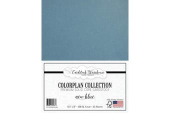 New Blue Cardstock Paper - 22cm x 28cm Premium 45kg. Cover - 25 Sheets from Cardstock Warehouse