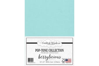 (Berrylicious) - BERRYLICIOUS Blue Cardstock Paper - 22cm x 28cm 45kg. Heavyweight Cover -25 Sheets from Cardstock Warehouse