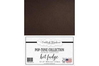 (Hot Fudge) - HOT Fudge Dark Brown Cardstock Paper - 22cm x 28cm 45kg. Heavyweight Cover -25 Sheets from Cardstock Warehouse