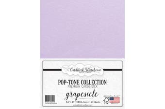 (Grapesicle) - GRAPESICLE/Lavendar/Light Purple Cardstock Paper - 22cm x 28cm 45kg. Heavyweight Cover -25 Sheets from Cardstock Warehouse