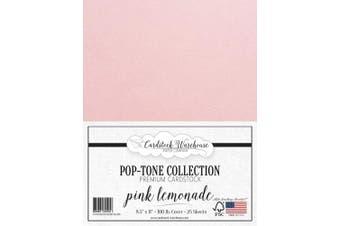 (Pink Lemonade) - Pink Lemonade Cardstock Paper - 22cm x 28cm 45kg. Heavyweight Cover -25 Sheets from Cardstock Warehouse