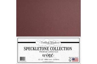 (Wine) - Wine Speckletone Recycled Cardstock Paper - 30cm x 30cm - Premium 45kg. Cover - 25 Sheets