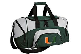 University of Miami Small Duffle Bag UM Gym or Overnight Duffel