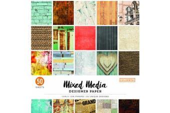 (30cm  x 30cm ) - ColorBok 73470A Designer Paper Pad Mixed Media, 30cm X 30cm