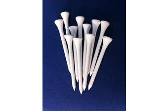 "100 White wooden JL Golf tees 69 / 70mm long (2 3/4"") *NEW*"