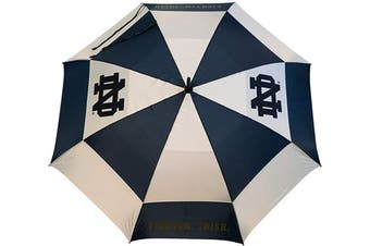 (Notre Dame Fighting Irish) - Team Golf NCAA 160cm Golf Umbrella with Protective Sheath, Double Canopy Wind Protection Design, Auto Open Button