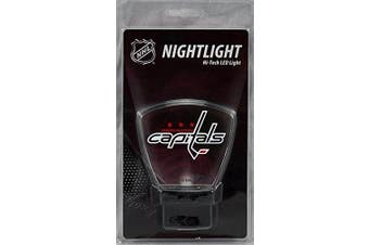 (Washington Capitals) - Authentic Street Signs NHL Officially Licenced-LED NIGHT LIGHT-Super Energy Efficient-Prime Power Saving 0.5 watt, Plug In-Great Sports Fan gift for Adults-Babies-Kids Room …