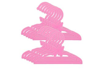 Doll Clothes Hangers for 46cm American Girl Dolls - Set of 12 Pink Butterfly Hangers