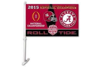 NCAA Alabama Crimson Tide College Football Champ Car Flag,One Size,Team colour