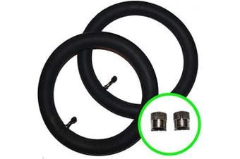2 x Baby Style Oyster & MAX Pushchair/Stroller Inner Tubes 32cm - 45º Bent/Angled Valve