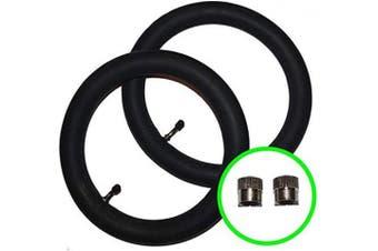 2 x Baby Style Prestige Pushchair/Stroller Inner Tubes 32cm - 45º Bent/Angled Valve