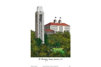 "Campus Images ""University of Kansas"" Lithographic Print"