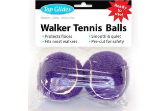 Top Glides Precut Walker Tennis Ball Glides (Purple)