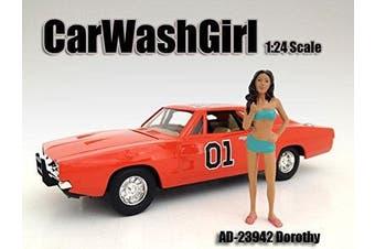 CAR WASH GIRL DOROTHY FIGURE 1:24 SCALE DIECAST MODELS BY AMERICAN DIORAMA 23942