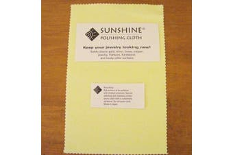 3 Sunshine Polishing Cloths for Sterling Silver, Gold, Brass and Copper Jewellery Polishing Cloth